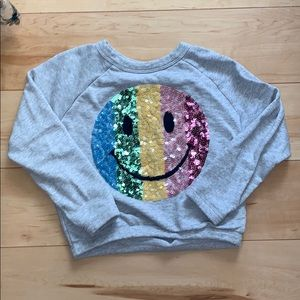 Kids Sequin Smiley Face Sweatshirt